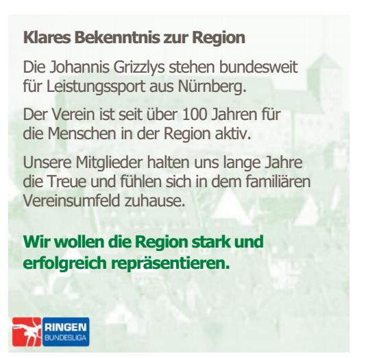 Grizzlys SV Johannis 07 Sponsoring!