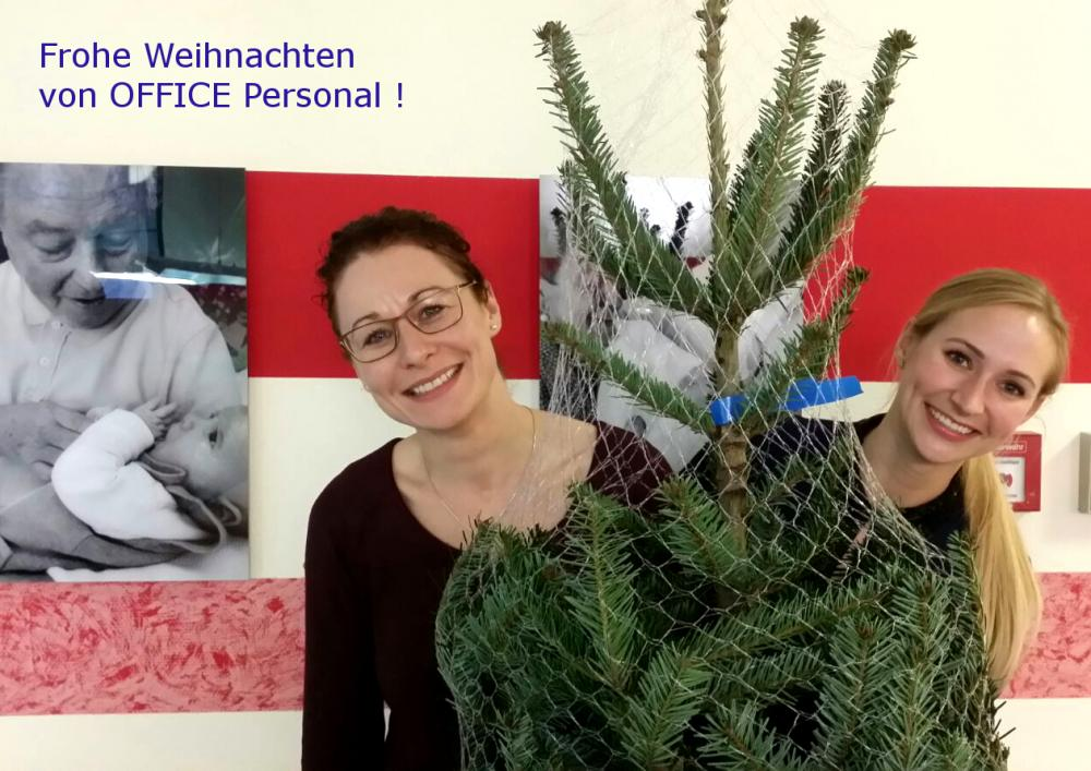 OFFICE Personal sponsort Christbaum im Pflegeheim