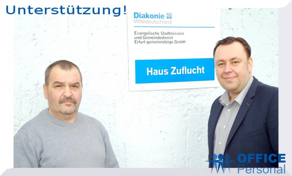 Spende an Obdachlosenheim Erfurt