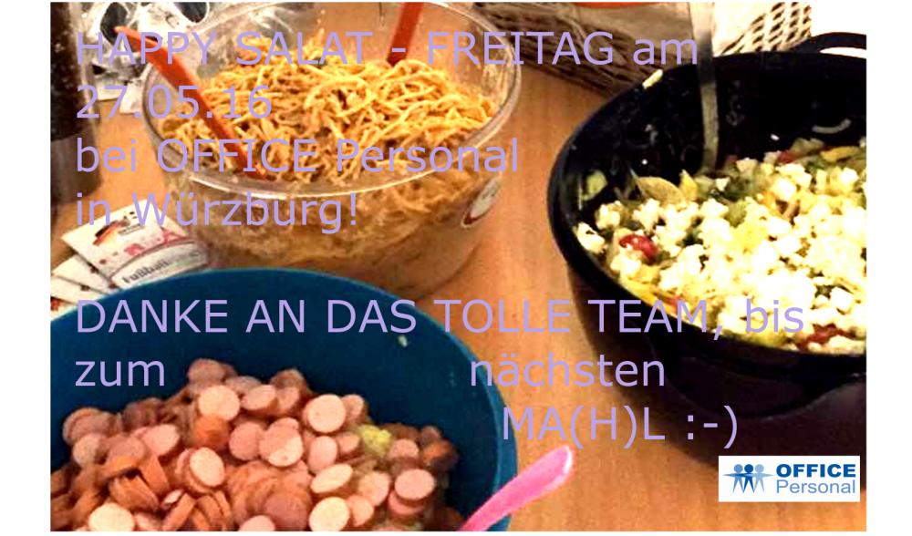 Salat-Freitag 27.05.16 in Würzburg!