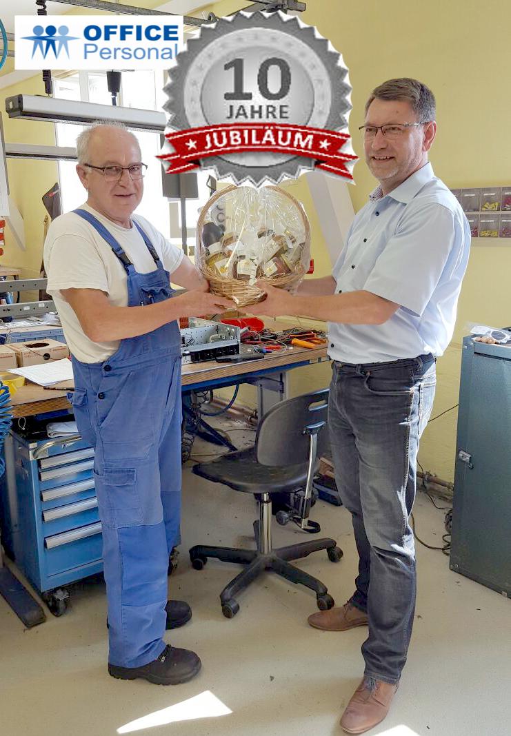 10 Jahre bei OFFICE Personal Zeitarbeit in Leipzig